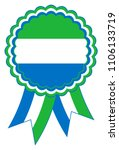 sierra leone award ribbon... | Shutterstock .eps vector #1106133719