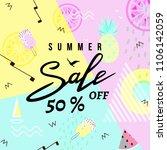 summer sale banner template... | Shutterstock .eps vector #1106142059