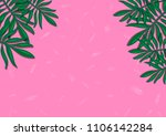 tropical leaves fashionable... | Shutterstock . vector #1106142284
