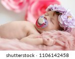 Adorable Newborn Baby Girl Wit...