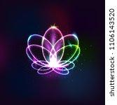 neon vector flower  light lotus.... | Shutterstock .eps vector #1106143520