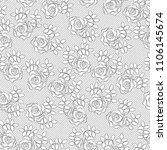 lacy background of stylized... | Shutterstock .eps vector #1106145674