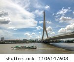 the rama viii bridge is a cable ... | Shutterstock . vector #1106147603