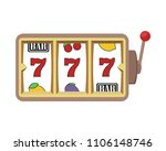 slot machine icon with lucky... | Shutterstock .eps vector #1106148746