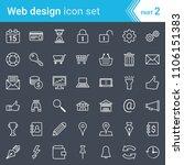 modern  stroked web design  seo ... | Shutterstock .eps vector #1106151383