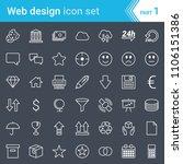 modern  stroked web design  seo ... | Shutterstock .eps vector #1106151386