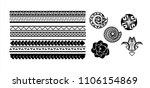 tattoo tribal vector designs.... | Shutterstock .eps vector #1106154869