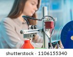 a young woman design a model of ...   Shutterstock . vector #1106155340