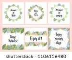 set of hand drawn cards with... | Shutterstock .eps vector #1106156480