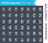 modern  stroked braille... | Shutterstock .eps vector #1106157149