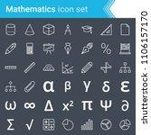 modern  stroked mathematics... | Shutterstock .eps vector #1106157170