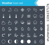 modern  stroked weather icons... | Shutterstock .eps vector #1106157176