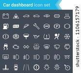 modern  stroked car dashboard ... | Shutterstock .eps vector #1106157179