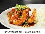Thai Food   Deep Fried Prawns...