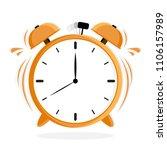 yellow alarm clock . ringing... | Shutterstock .eps vector #1106157989