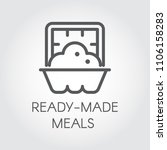 ready made meals icon. prepared ... | Shutterstock .eps vector #1106158283