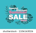 summer sale and discounts... | Shutterstock .eps vector #1106163026