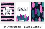 set of creative summer floral... | Shutterstock .eps vector #1106163569