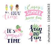 summer labels  logos  hand... | Shutterstock .eps vector #1106163653