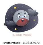 blood moon concept design ... | Shutterstock .eps vector #1106164070