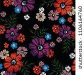 spring flower pattern | Shutterstock .eps vector #1106164760