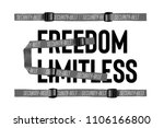 typography slogan with straps... | Shutterstock .eps vector #1106166800