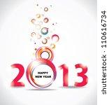 new year 2013 in white... | Shutterstock .eps vector #110616734
