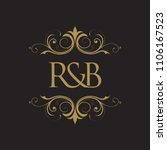 rb initial logo. ornament...