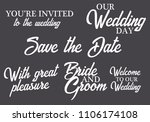 you are invited  save the date  ... | Shutterstock .eps vector #1106174108