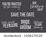 you are invited  save the date  ... | Shutterstock .eps vector #1106174120