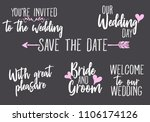 you are invited  save the date  ... | Shutterstock .eps vector #1106174126