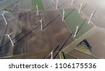 aerial top down photo of wind... | Shutterstock . vector #1106175536