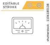 meter line icon | Shutterstock .eps vector #1106180138