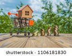the concept of a house in a... | Shutterstock . vector #1106181830
