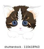 small cat | Shutterstock .eps vector #110618963