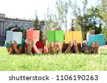 Group Of Children With Books...
