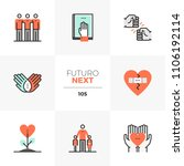 modern flat icons set of best... | Shutterstock .eps vector #1106192114