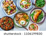 different healthy vegetable... | Shutterstock . vector #1106199830