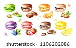 traditional french cakes... | Shutterstock . vector #1106202086