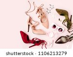 fashion female shoesand ... | Shutterstock . vector #1106213279