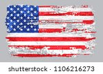 watercolor usa flag.american... | Shutterstock .eps vector #1106216273