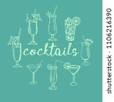 set of cocktails and  drinks ... | Shutterstock .eps vector #1106216390