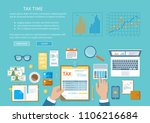 tax payment concept. state... | Shutterstock . vector #1106216684