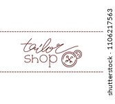 tailor logo template. one line... | Shutterstock .eps vector #1106217563