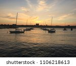 sailboats on the hudson at... | Shutterstock . vector #1106218613