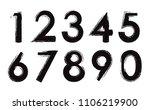 grunge numbers set.vector dirty ... | Shutterstock .eps vector #1106219900