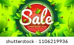 summer sale vector colorful... | Shutterstock .eps vector #1106219936