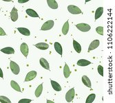 floral seamless pattern with... | Shutterstock . vector #1106222144