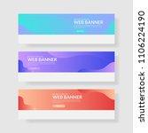 3 set ui pastel color banner....