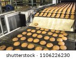 cakes on automatic conveyor... | Shutterstock . vector #1106226230